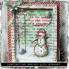 Tim Holtz Holiday Inspiration Series - We Can Build A Snowman Shaker Card