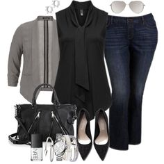 Plus Size Fashion - Casual Friday by alexawebb on Polyvore #plussize #plussizefashion #outfit #plus #alexawebb #PolyvorePlus @alexandrawebb