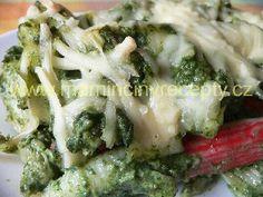 Těstoviny s rybím špenátem