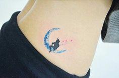Small Watercolor Peter Pan Tattoo Idea