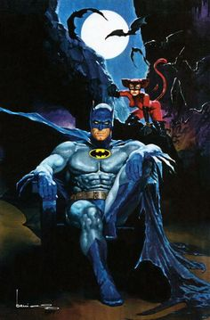 Batman and Catwoman - artist? *