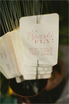sparklers for your first dance, yes please!