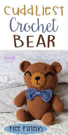 Cuddliest Crochet Bear Amigurumi | Free Pattern from Sewrella