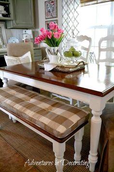 Gorgeous franceses comedor País de mesa y sala de asientos banco ideas de diseño de interiores y la decoración del hogar de las aventuras en Decoración: son las pequeñas cosas ...