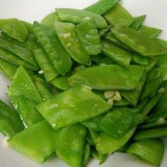 Snow Peas Sauteed with Garlic! All you veggie lovers checkout my newest side dish recipe!