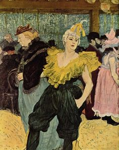 Henri de Toulouse-Lautrec (1864–1901)  Deutsch: La Clownesse Cha-U-Ka-O im Moulin Rouge 1891