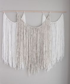 Large wall hanging tapestry yarn macrame by Thoseindiemommies