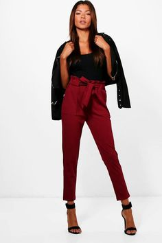 Hailey Paperbag Waist Belted Trouser