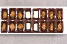 Ice Cube Tray Chocolates with different Fillings.