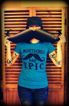 Giant Mustache Vinyl Decal  The Handlebar  by ImSeriouslyJoking, $13.00