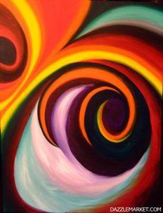 Spirals Painting http://www.dazzlemarket.com/ads/spirals/