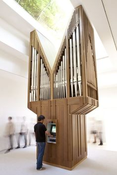 "Allora & Calzadilla - Algorithm, 2011, Atm, Pipe Organ, Computer  Installation view: ""Gloria"" US Pavilion, presented by the Indianapolis Museum of Art, 54th International Art Exhibition, La Bienal di Venezia"