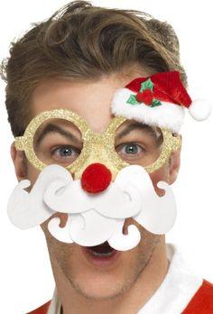 Occhiali simpatici babbo Natale: un naccessorio originale e simpatico per accogliere il Natale con allegria!