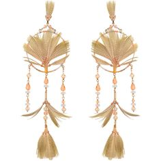 Valentino Dream Catcher earrings ($615) ❤ liked on Polyvore featuring jewelry, earrings, multicoloured, feather jewelry, multi colored jewelry, colorful jewelry, earrings jewelry and multi color earrings
