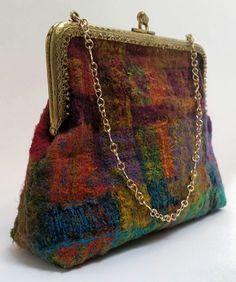 Embellished felt bag by Jenny Parker