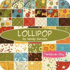 fabric for baby room: moda lollipop