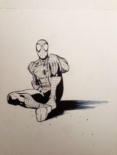 Spider-man relaxing by RyanOttley on deviantART