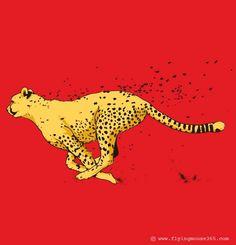 Loosing cheetah spots