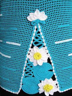 Häkeln... ein schönes Element für Top, Pulli, Rock , Kleid usw.  ;O)  crochet