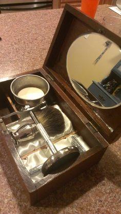 Vintage Shaving Kit Beard Grooming Kits, Men's Grooming, Shaved Hair Cuts, Happy Birthday Gifts, Safety Razor, Wet Shaving, Straight Razor, Beard Care, Barber Shop