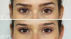 The different of filling in your #eyebrows. What a difference!! #permanentmakeup #eyebrows #microblading #threading