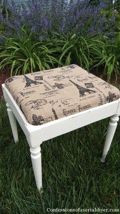 Sewing Stool Redo & Chalk Paint Recipe Revealed
