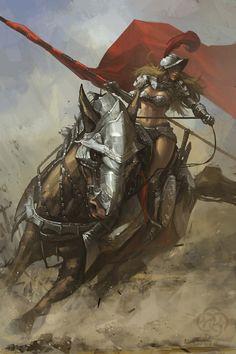Kick-Ass Illustrations of Warrior Women | Design Inspiration - Vexels Blog