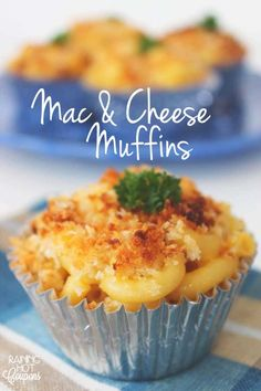 Labor Day Party Food Ideas - Mac and Cheese Muffins - DIY Projects & Crafts by DIY JOY at http://diyjoy.com/party-ideas-labor-day-food-diy-decor