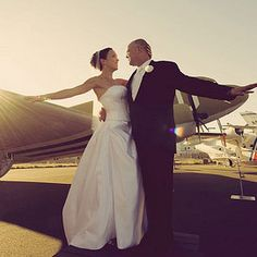 Wedding at an aviation museum! That's a cool idea.