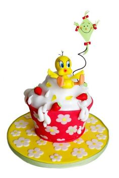 Tweety bird cake - TITTI E LO SCIVOLONE: TUTORIAL