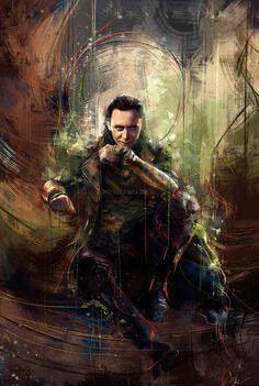 Portrait of Tom Hiddleston as 'Loki' (Thor - The Dark World) Marvel Avengers, Captain Marvel, Marvel Dc Comics, Marvel Heroes, Marvel Characters, Marvel Movies, Captain America, Loki Thor, Loki Laufeyson