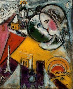 Chagall, Marc - Sunday - Ecole de Paris - Abstract - Oil on canvas