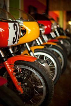 Vintage race bikes