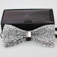 Coachella Tie Stylish Glitter Rhinestone Bowtie Sparkle Adult Tuxedo Bow Tie 2e4faba06569