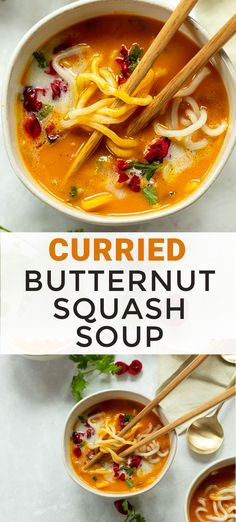 A quick and nourishing Asian-style vegan noodle soup to make with leftover squash or canned pumpkin and coconut milk.
