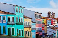 Pelourinho in Salvador, Bahia, Brazil | Although a big city and familiar to many, Salvador is still less of a tourist destination than Rio or São Paulo. The city is beautifully rich in Afro-Brazilian culture, and you won't want to miss out on the sounds and sights of their historic neighborhood, Pelourinho.