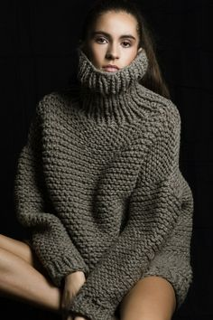 Knit, leather and fur fashion