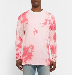 The Elder Statesman - Tie-Dyed Knitted Cashmere and Silk-Blend T-Shirt