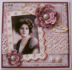 Vintagekaart oudrose