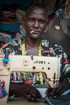 Juba's funkiest tailor ~ Juba, South Sudan (photo credit: Pernille Bærendtsen)