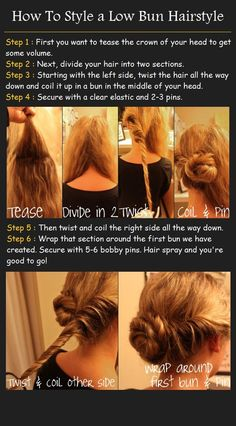 How to style a low bun hairestyle