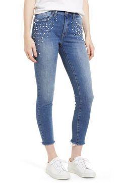 ropa con perlas, jeans con perlas