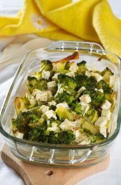 Zapiekanka z brokułami i cukinią