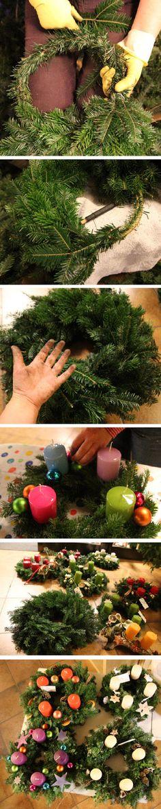 DIY: Adventskranz selbst gemacht (mit Anleitung)