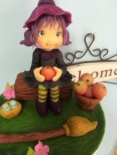 Marzipan crafted witch