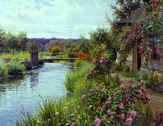 """""""Flowers in Bloom"""" by Louis Aston Knight"""
