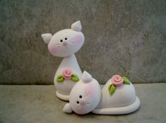 cups with fimo figurines - Yahoo Search Results Image Search Results Polymer Clay Cat, Polymer Clay Figures, Polymer Clay Animals, Fondant Figures, Polymer Clay Projects, Polymer Clay Creations, Clay Cats, Clay Figurine, Clay Ornaments