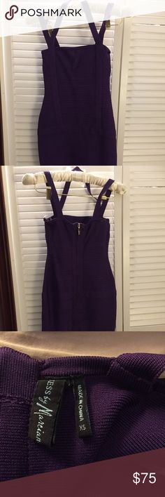 Guess by Marciano Anita Purple Bandage Bodycon A step above the standard Guess brand, Guess by Marciano has a more sophisticated style.   From a non-smoking home. Guess by Marciano Dresses Mini