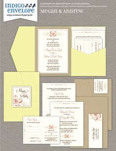 Vintage etchings of dogwood blossoms and Victorian ornaments were used to create this invitation collection for a spring wedding in North Carolina. #botanicalwedding #indigoenvelope