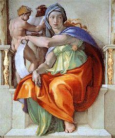 La sibylle de Delphes, par Michel-ange